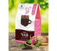 Черный чай с мятой и розой 150г